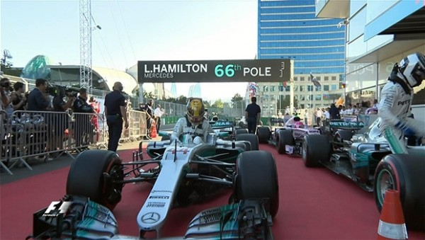 Azerbaycan'da pole pozisyonu Hamilton'ın
