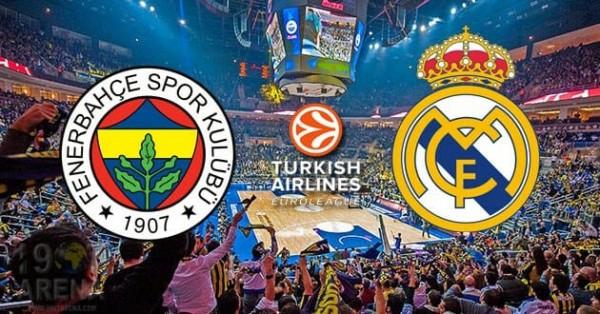 Fenerbahçe Doğuş-Real Madrid Maçı Canlı İzle!