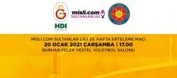 Galatasaray HDI Sigorta-Sistem9 Yeşilyurt Maçı Canlı İzle!