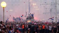 Hırvatistan'da çılgın kutlama