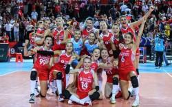 Kadın voleybol milli takımı Avrupa'da çeyrek finalde