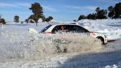 Türkiye'nin ilk kış yarışı Sarıkamış Rallisi tamamlandı